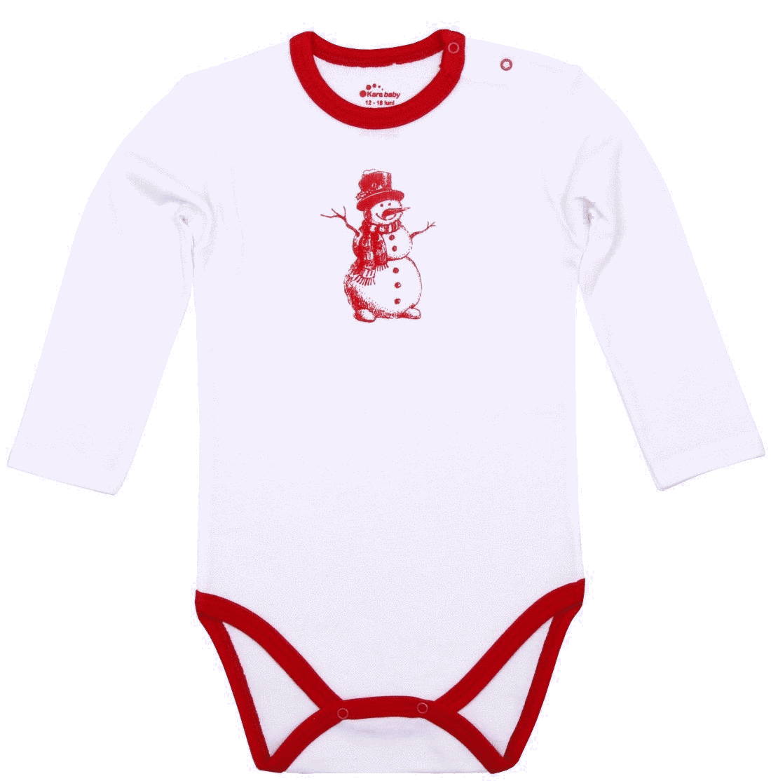 """Body Copii Cu Maneca Lunga, Alb """"om De Zapada"""""""