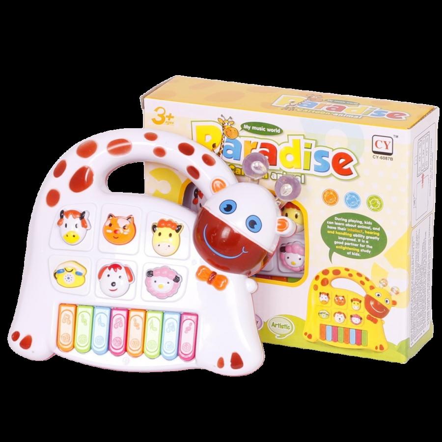 Orga muzicala cu animale-jucarie bebe